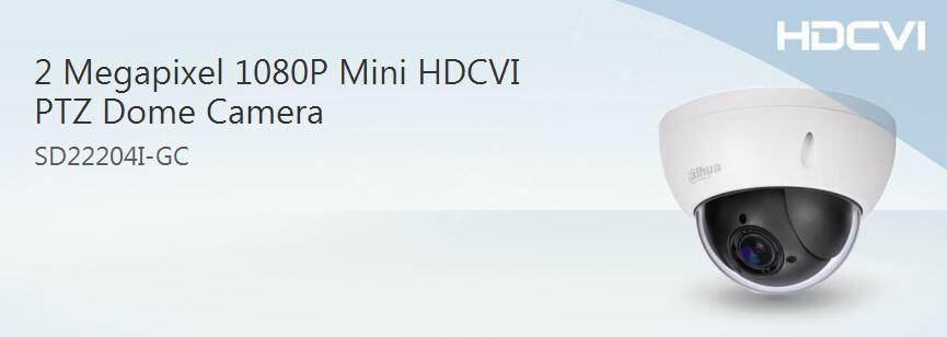 Dahua Sd22204i-gc Mini Hdcvi Ptz Dome Camera Auto Tracking Ptz ...