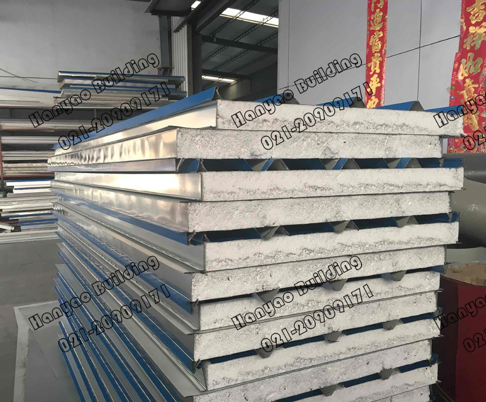 Anti Earthquake Exterior Polystyrene Foam Metal Cladding Sandwich Panel
