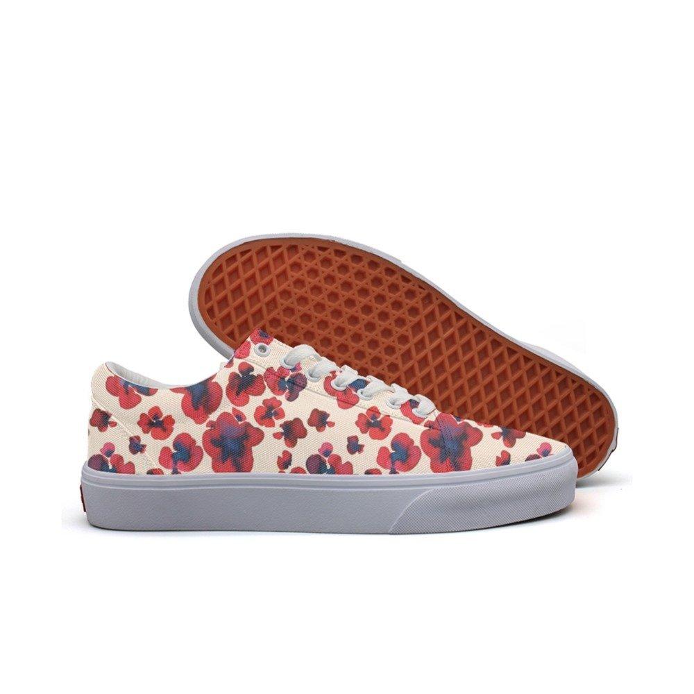 a6d8f955e8f4d Get Quotations · Ouxioaz womens Skateboarding Shoes Canvas watercolor  flowers artwork Sport Sneaker