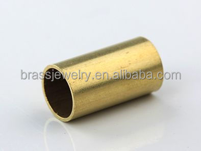 Cheap Wholesale Nickel Free Lead Free 5mm Hollow Smooth Thick Brass Jewelry Tube