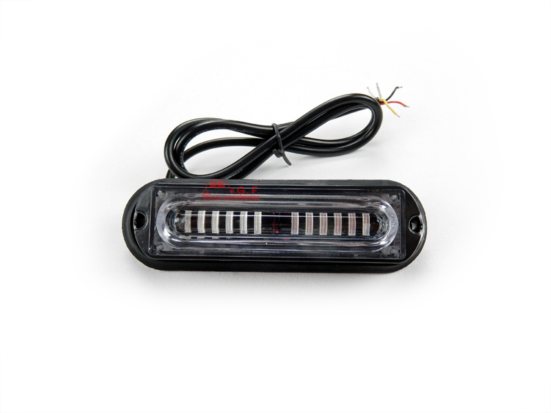 Grosir Merah Biru LED Mobil Depan Grille Side Marker Lamp Permukaan Gunung LED Mini Strobe Light Kepala