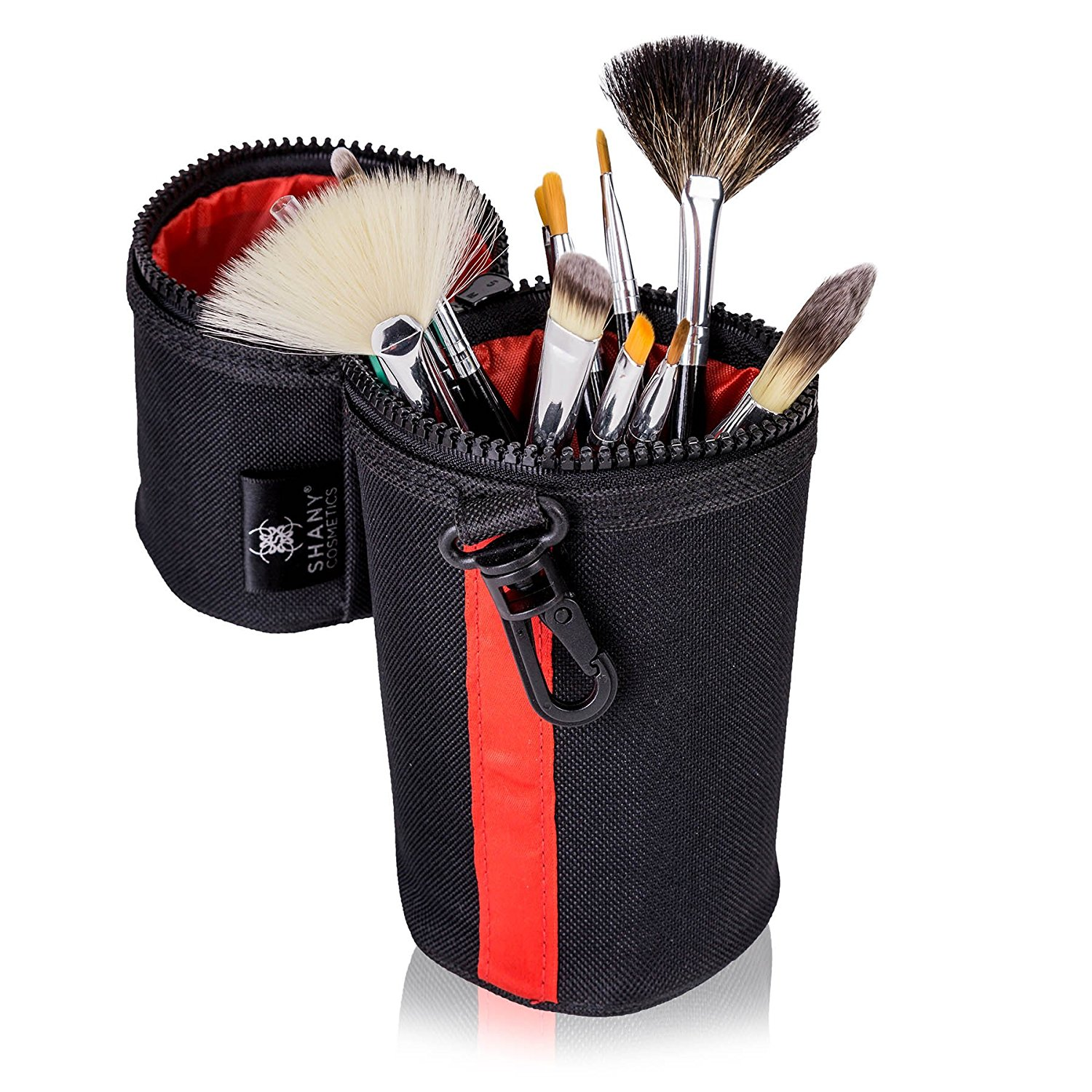 SHANY Cosmetics Urban Gal Collection Brush Kit (15 Piece Travel Brushes with Carry On Case), 13 Ounce