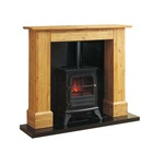14 inch insert wood surround electric fireplaces stoves heater with mantel