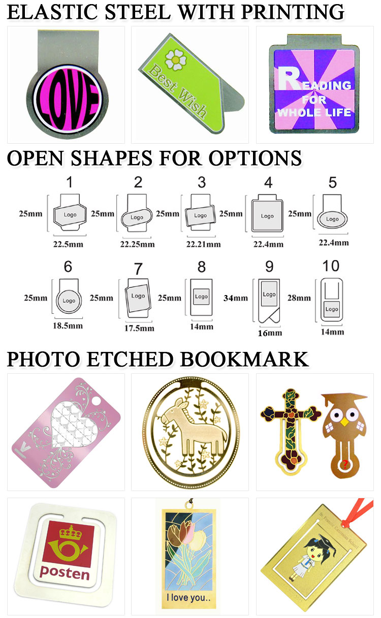 wholesale custom design gold plated christian cross bookmarks