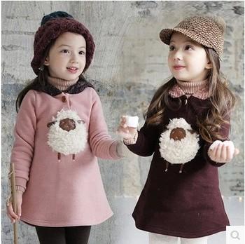 feb5107ad6eb5 Hiver Enfants Filles Robes Europ Robes Enfant Vêtements De Boutique En Ligne