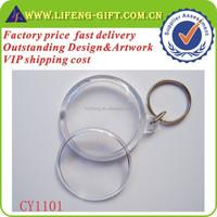 Custom round acrylic Photo Frame keychain