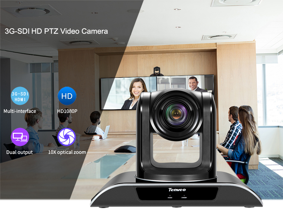 TEVO-VHD10N 10X zoom SDI full hd video conference camera for remote conferencing