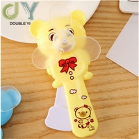 Factory Sale Cute Bear Plastic Mini Hand Fan Portable Hand Fan Manual Hand Fan
