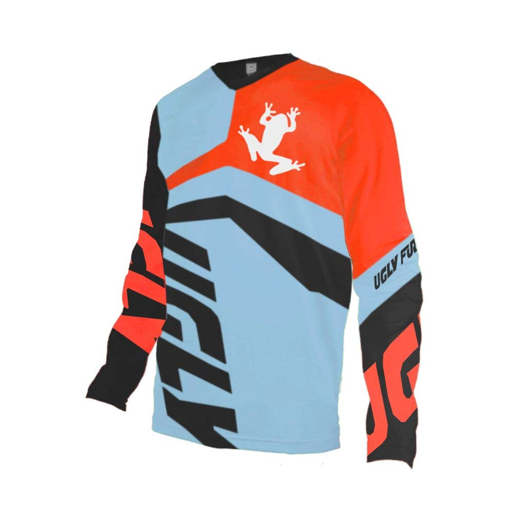 Uglyfrog Downhill Jersey MTB Jersey Mens Bike Wear Short Sleeve Tops Rage Cycling/Motocross Clothes MTB Shirt