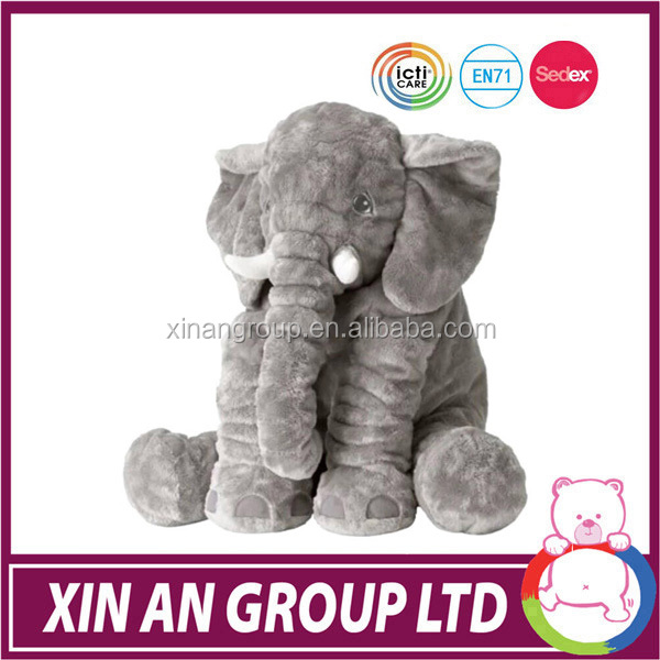 Custom stuff filling animal toy Long Nose Elephant Doll Pillow