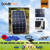 Solarparts ETFE Semi flexible Marine solar panel 100W with cell 22% high efficiency