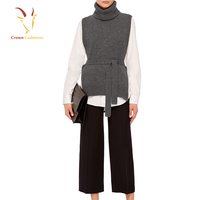 Sleeveless Women's knitted Patterns Cashmere Sweater Vest