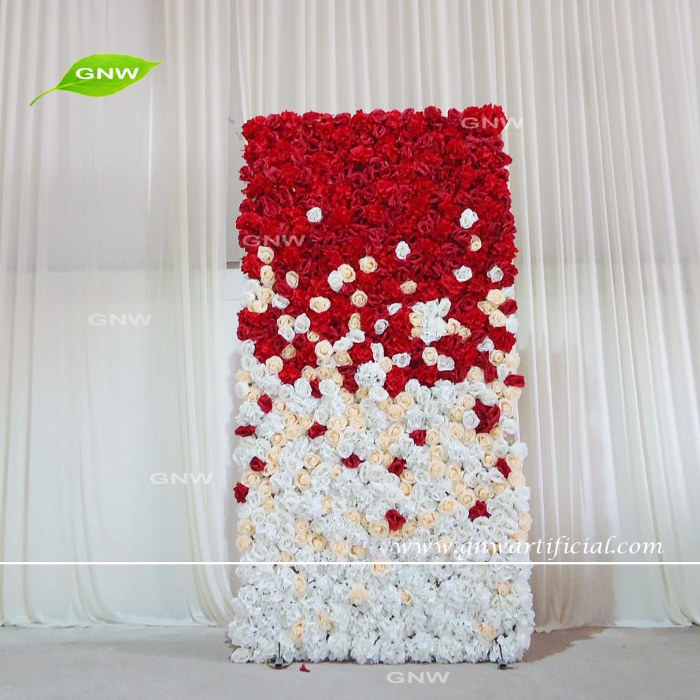 Gnw flw1508003 new design fake silk hydrangea rose flower for Decoration cost per m2