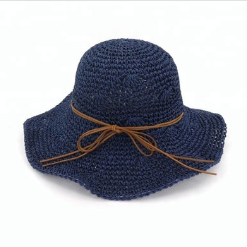 2611b12d959be Natural Stylish Wide Brim Women Straw Hat  Natural Crochet Straw Hats For  Girls Fashion