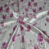 floral printed satin fabric/clothing fabric/dresses for women