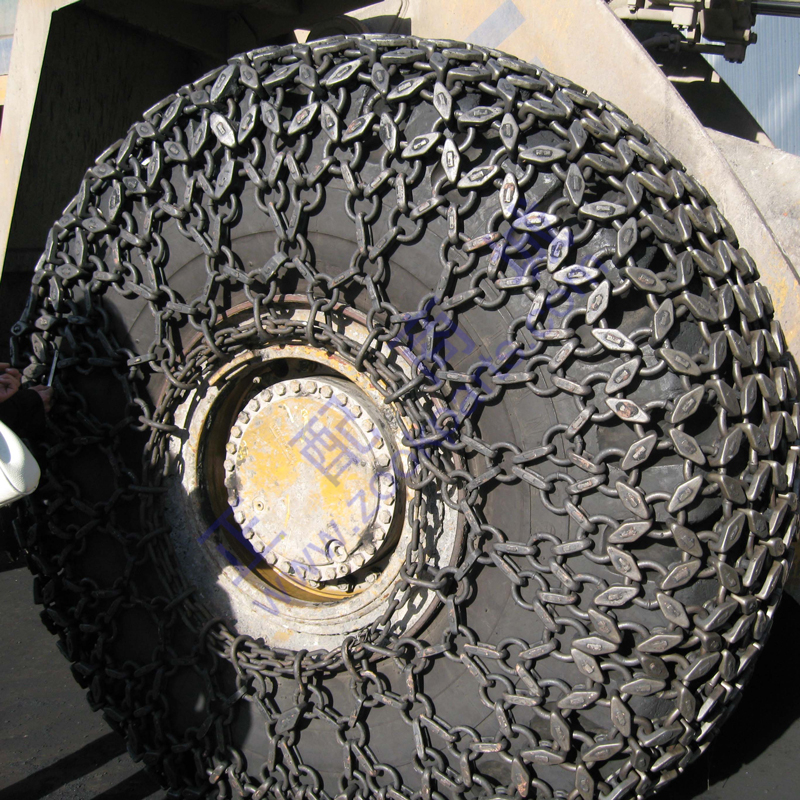 Wheel loader rubber tire tyre protection chains wholesale with competitive price