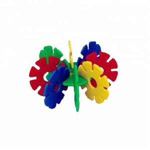 Plastic brain blocks set wholesale price pink color lovely toy kids