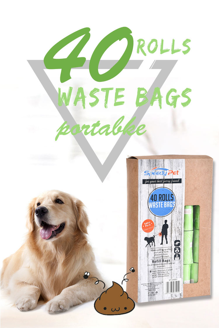Speedypet 380 bags/box Leak-Proof Pet Dog Waste Bag, Dog Poop Bag
