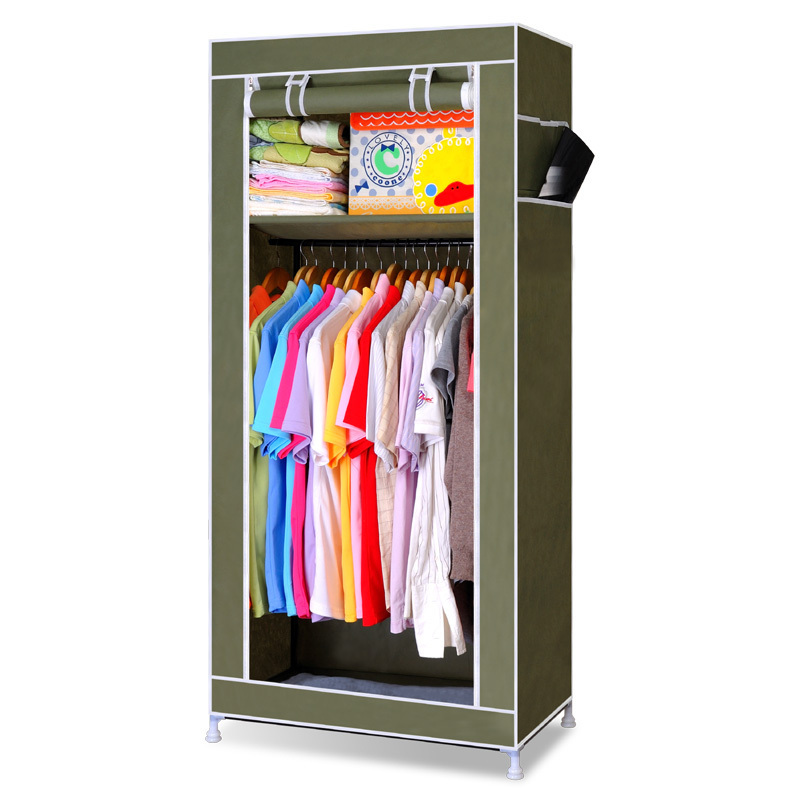 Free Shipping Fabric Samll Wardrobe Combination Capacity Bedroom Furniture DIY Clothes Wardrobe Storage Cabinet Wardrobe