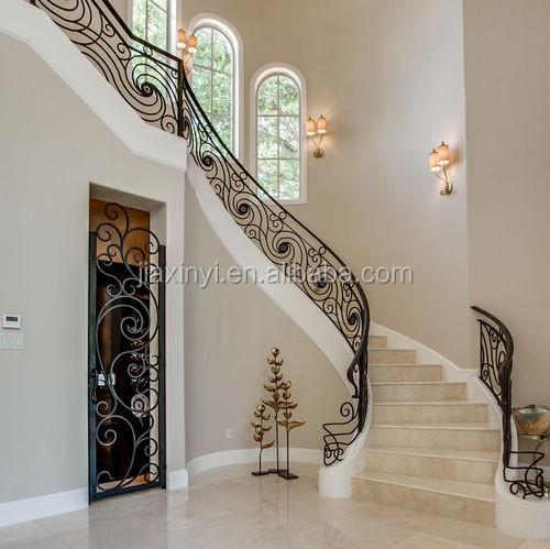 Interior Staircase Railing Wrought Iron Stair Railings Prefab Metal