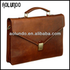 New arrival vegetable tanned leather briefcase