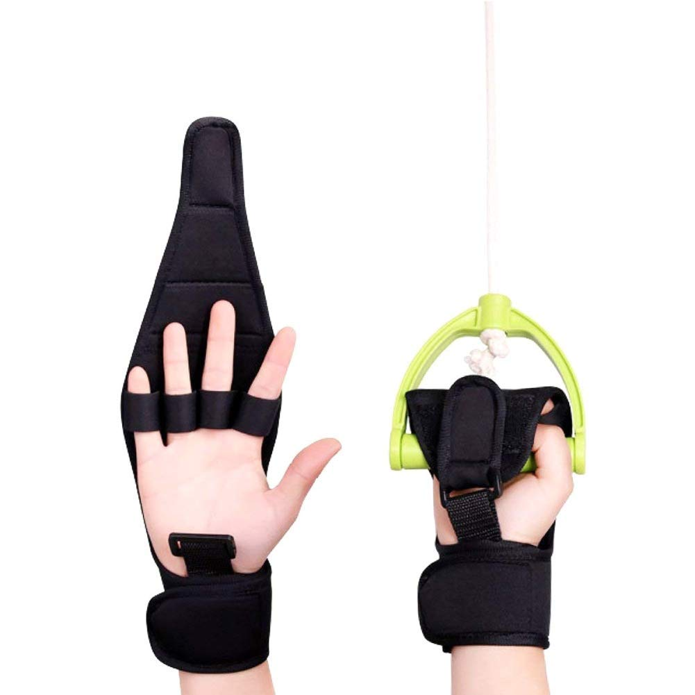 IMFUN Finger Splint Brace Ability, Finger Anti-Spasticity Rehabilitation Auxiliary Training Gloves for Stroke Hemiplegia Patient and Athlete Finger Rehabilitation