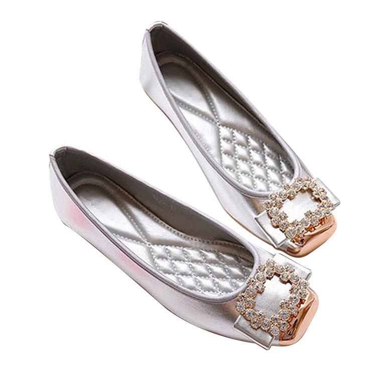 c5d3c2a1853c 2018 Latest Rhinestone Flat Women Dinner Dress Shoes - Buy Dress ...
