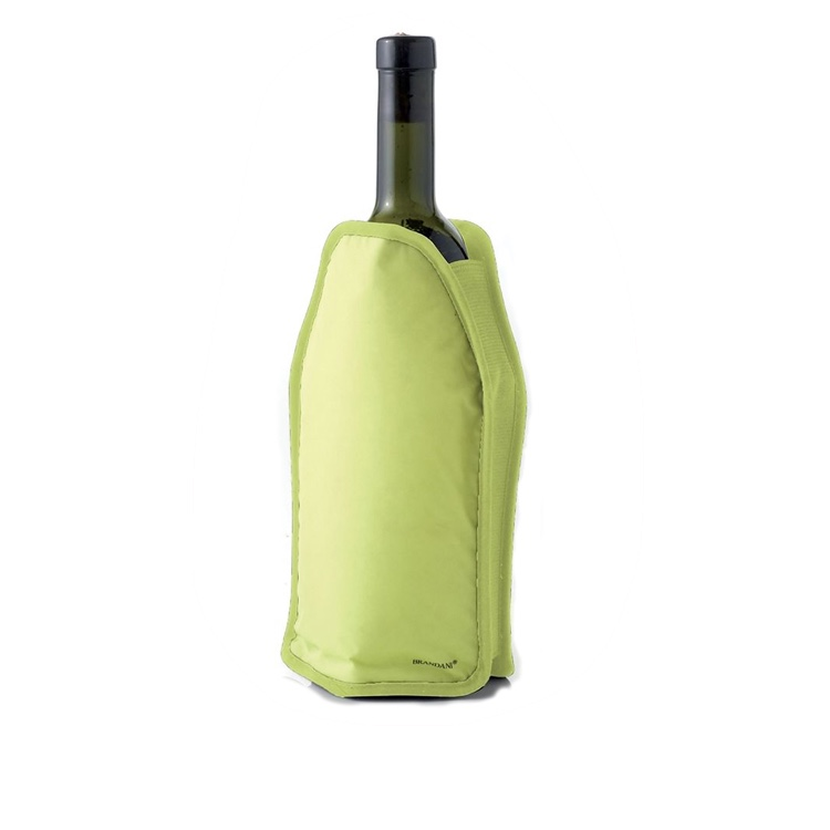 nylon reusable gel wine bottle cooler, gel wine cooler wrap