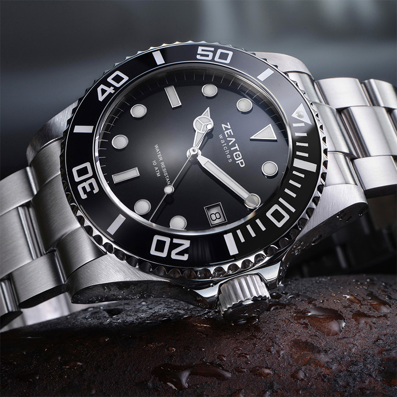 High Quality Metal Solid Link Stainless Steel Bracelet Automatic Sport Brand Your Own Luxury Uhren Men Watches