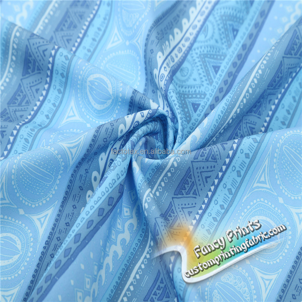 2017 Wholesale digital printing knit shiny outdoor stretch fabric