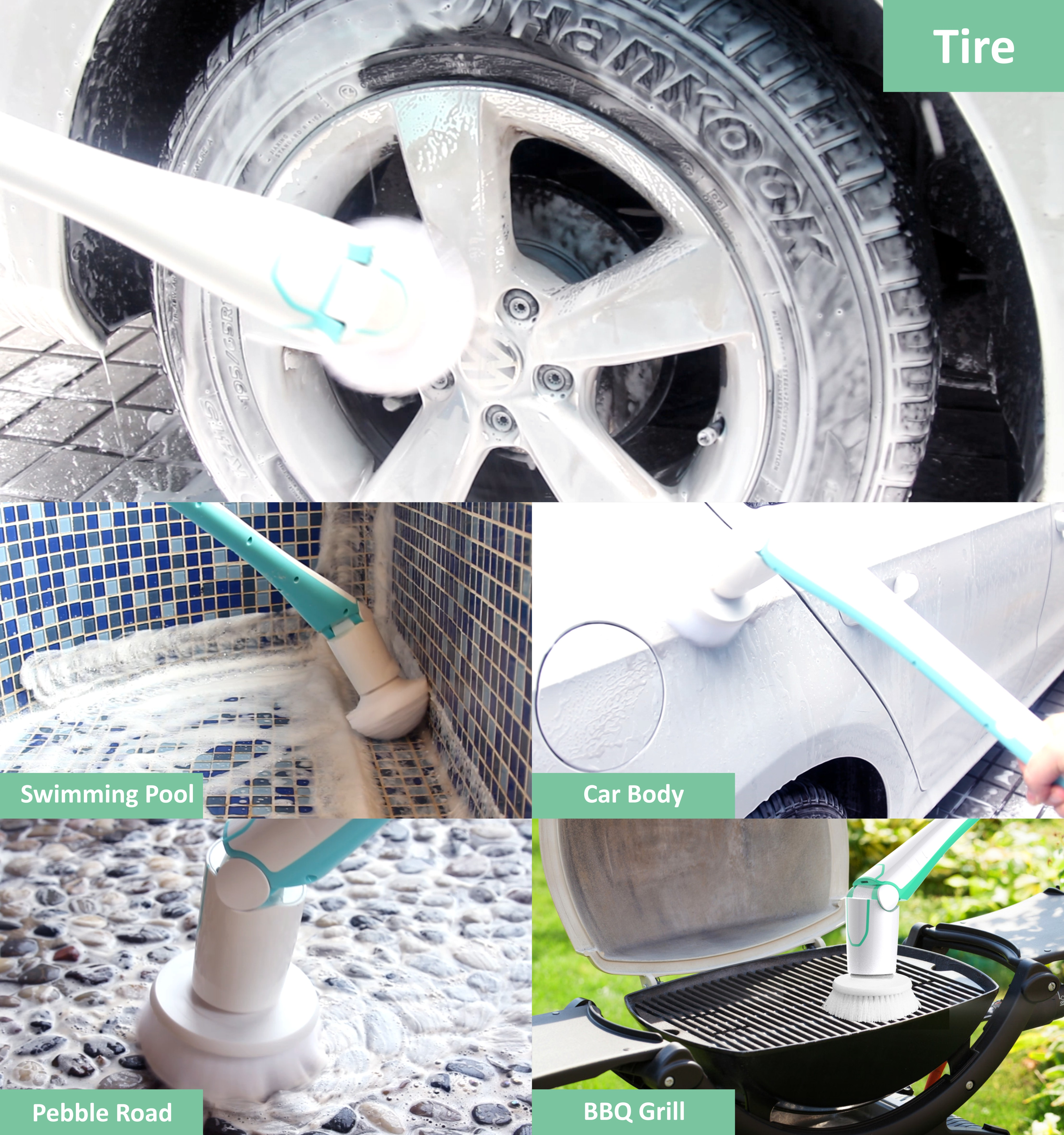 Hot selling car wash brush cleaning brush scrubber brush for car wash cleaning
