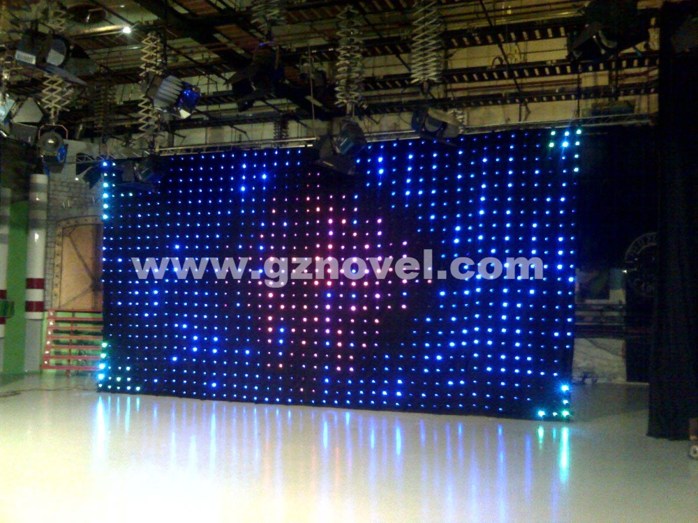 Hi Cool Led Backdrop Curtain Lights Color Changeable Night Light Stage Background Star