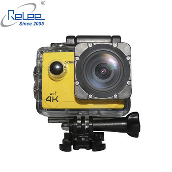 Relee Optional External  mic 4K 30fps FHD waterproof sports action camera with wifi