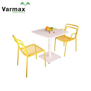 Woven Rope Outdoor Wrought Yellow Garden Table Chairs Garden Sets