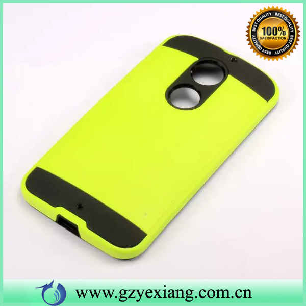 Cell Phone Hard Brushed Slim TPU PC Hybrid Case For Moto X2 Back Cover