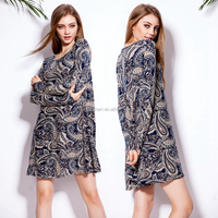 Spring Summer Autumn Leisure Loose Pattern 2015 Women Cotton T shirt dress