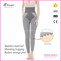 S - SHAPER Bamboo Body Shaper Women Tourmaline Bamboo Leggings B0438B3