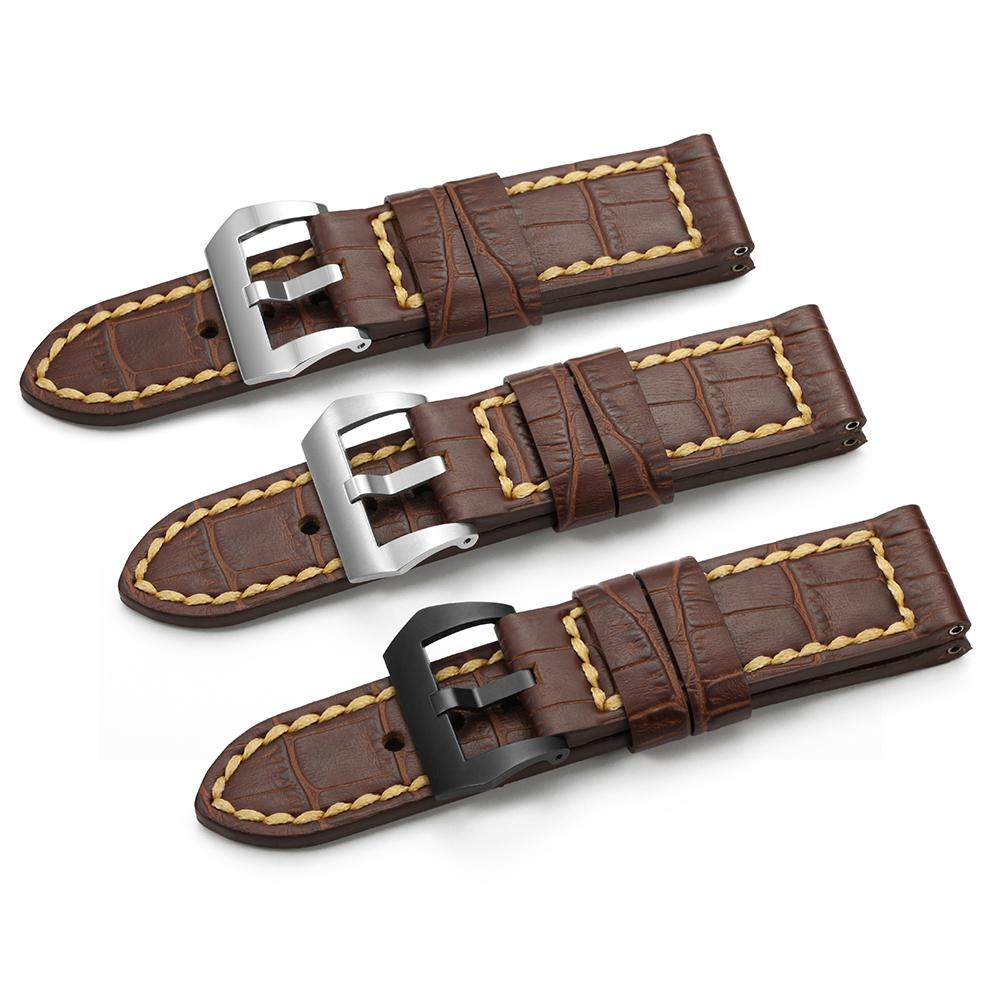 OEM Sostituzione Occidentale Vintage Wristband Del Braccialetto Intelligente Genuino Italiana In Pelle di Vitello Watch Band Strap per Panerai Orologi