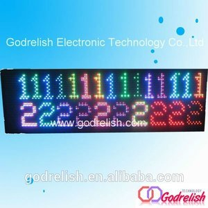Multifunctional rechargeable battery powered led sign with great price