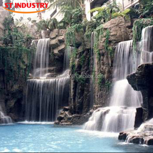 Aalibaba China Outdoor water fountains artificial rockery waterfalls for garden