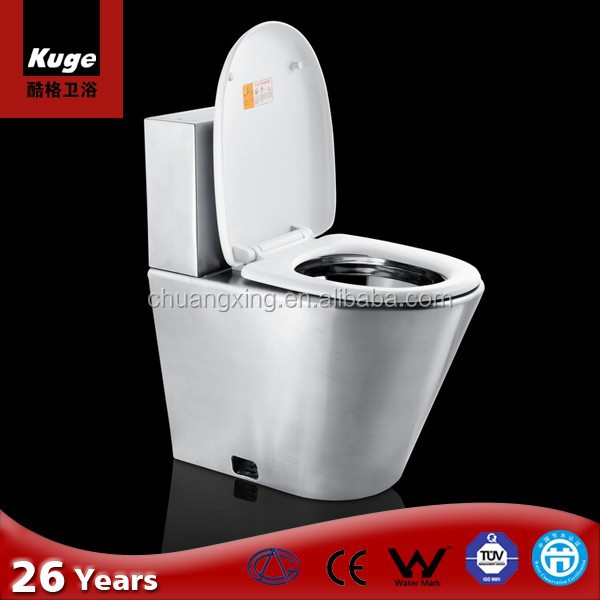 2016 Kuge New Products 304 Stainless Steel Portable Flush Toilet