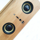 portable mini wood speaker wireless induction speaker with stand holder for ipad, mobile phone, tablet