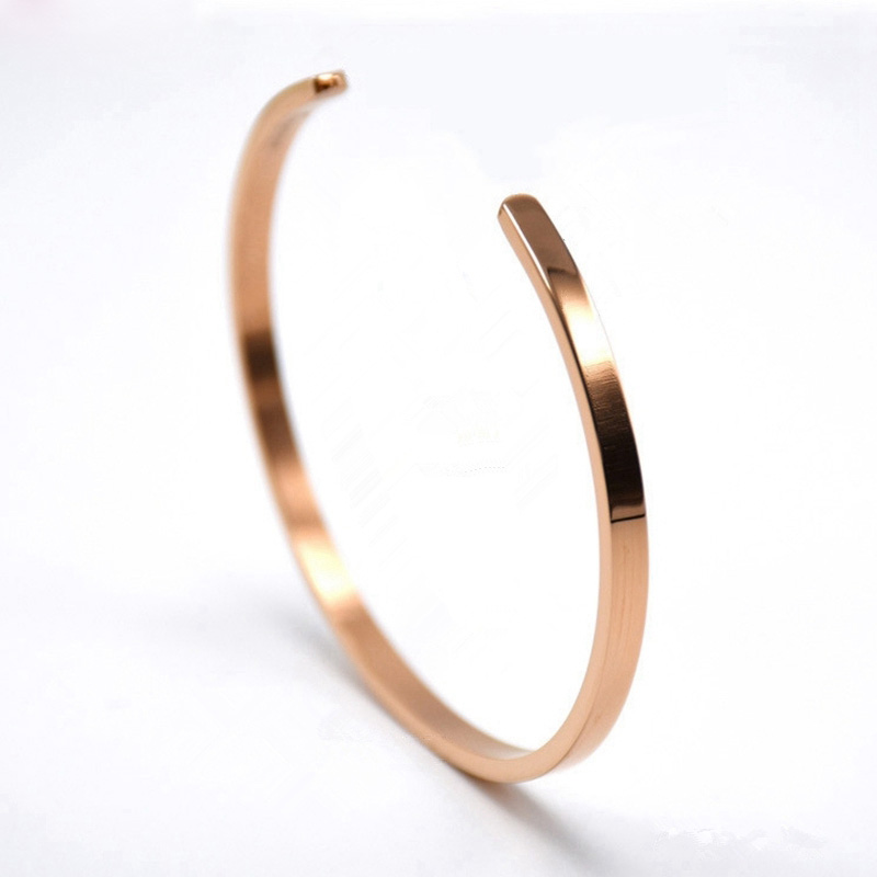 Best seller 316L stainless steel minimalist gold thin cuff open bangle for women