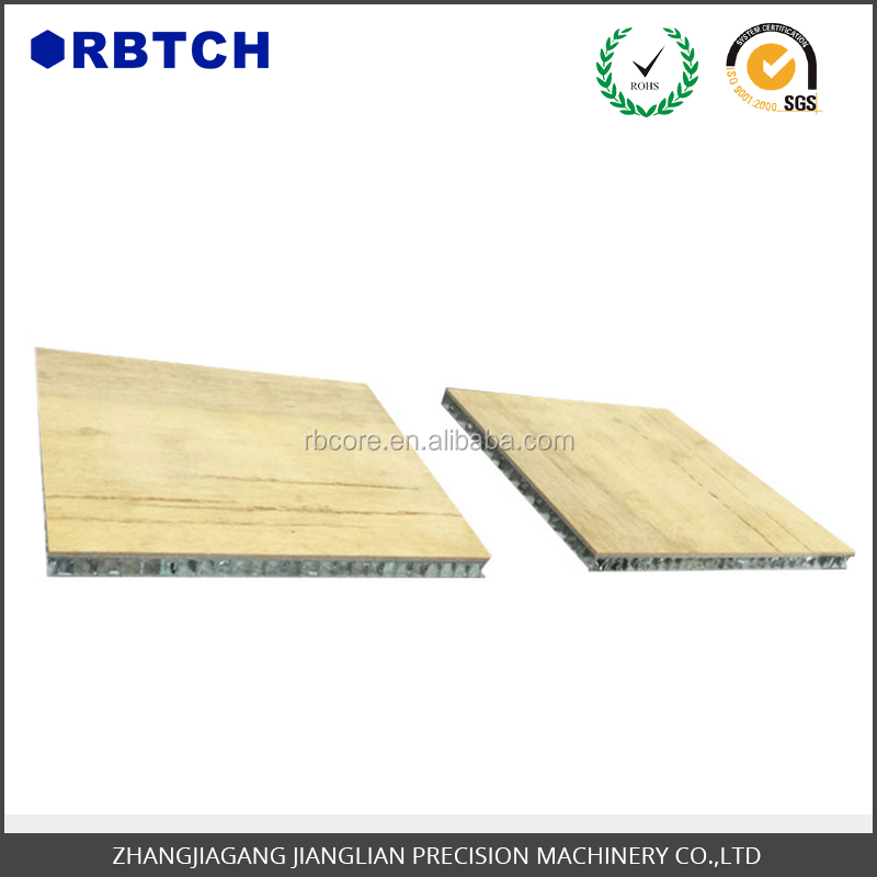 wooden grain aluminum honeycomb panel used for Internal furniture decoration in boat