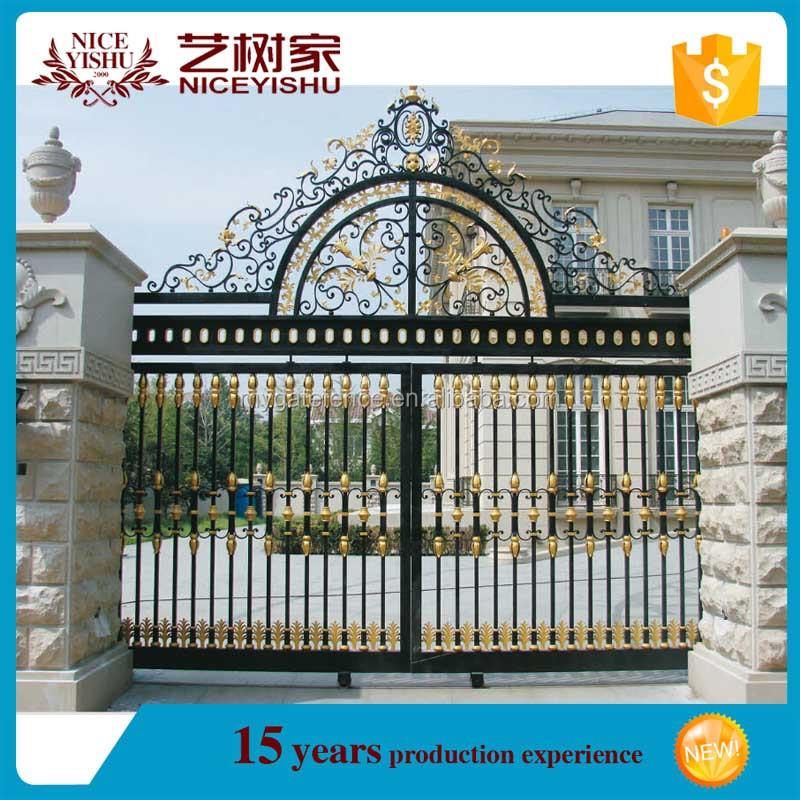 Simple Modern House Gate Designsdouble Swing Gatechina Manufacturer Buy House Gate Designsnew Design Iron Gateiron Pipe Gate Design Product On