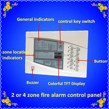 Heiman 2017 new products fire alarm system 4 zone/8zone/16zone fire alarm control panel