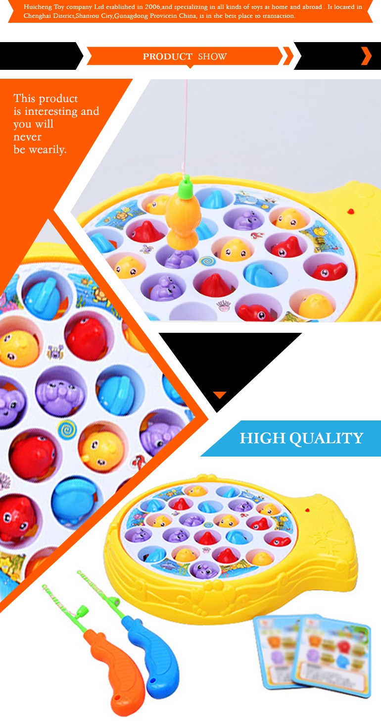 best selling baby electric fishing game magnetic toy with music