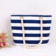 2016 promotional beach bags canvas rope handle beach bag
