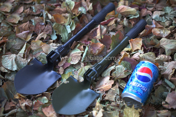 Garden Toolsl Chinese Military Shovel With A Compass Folding Sappers Bonsai Tools Survival Spade