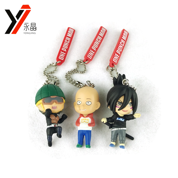 New Products Popular Anime One Punch Man Set 3D PVC Key Chain